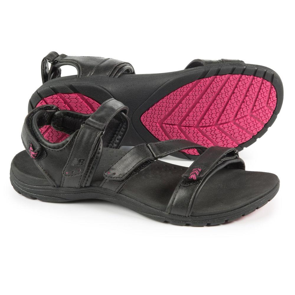 ニューバランス New Balance レディース サンダル・ミュール スポーツサンダル シューズ・靴【Maya Sport Sandals - Leather】Black/Pink