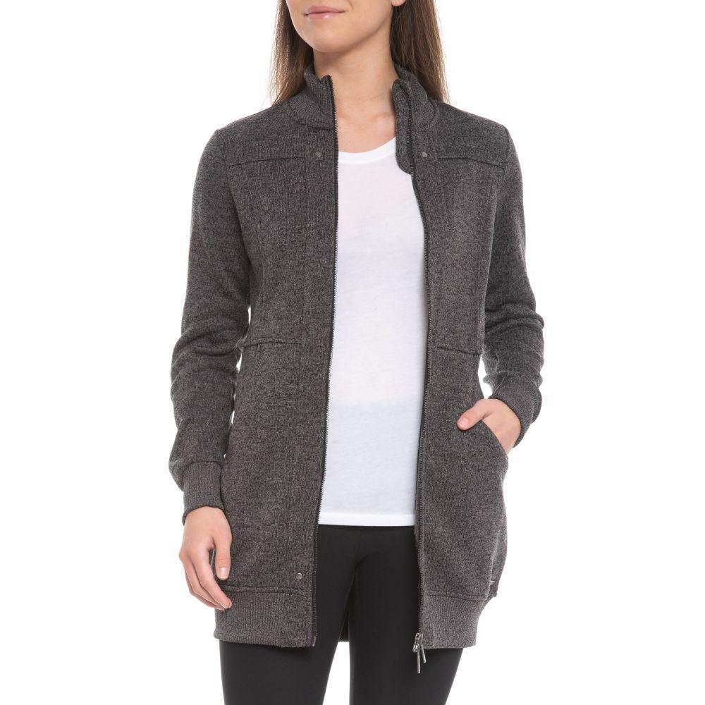 フリーダムトレイル Freedom Trail レディース ニット・セーター トップス【Sweater Knit Long Polar Jacket】Black Melange
