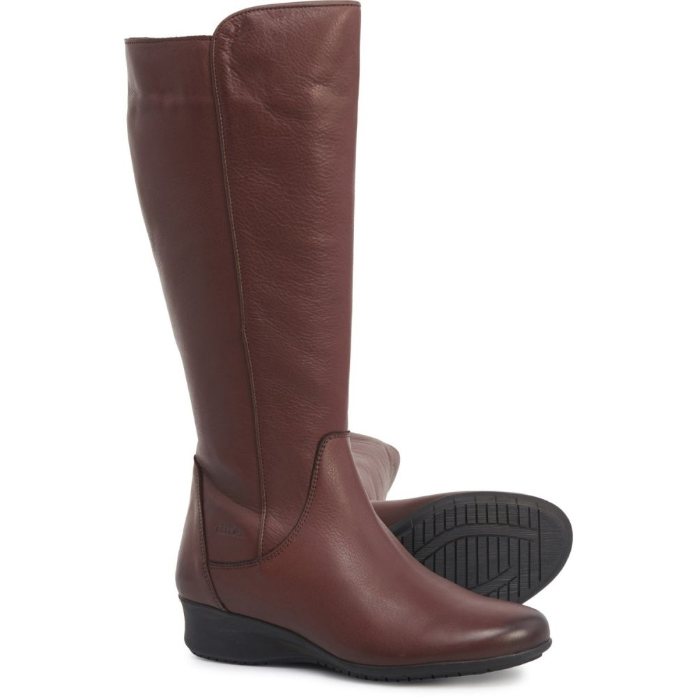 タオス Taos Footwear レディース ブーツ シューズ・靴【Made in Portugal Divine Tall Boots - Leather】Mahogany