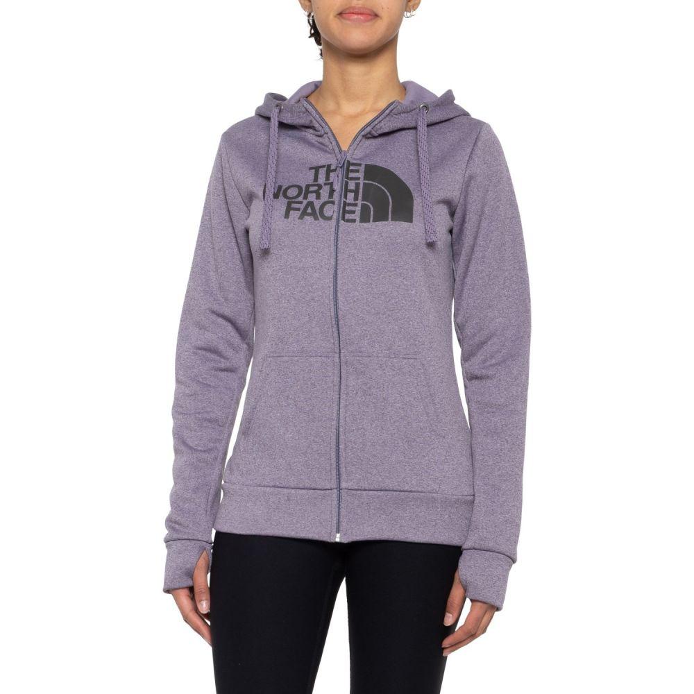 ザ ノースフェイス The North Face レディース パーカー トップス【Fave Half Dome Hoodie - Full Zip】Purple Sage Heather/Asphalt Grey