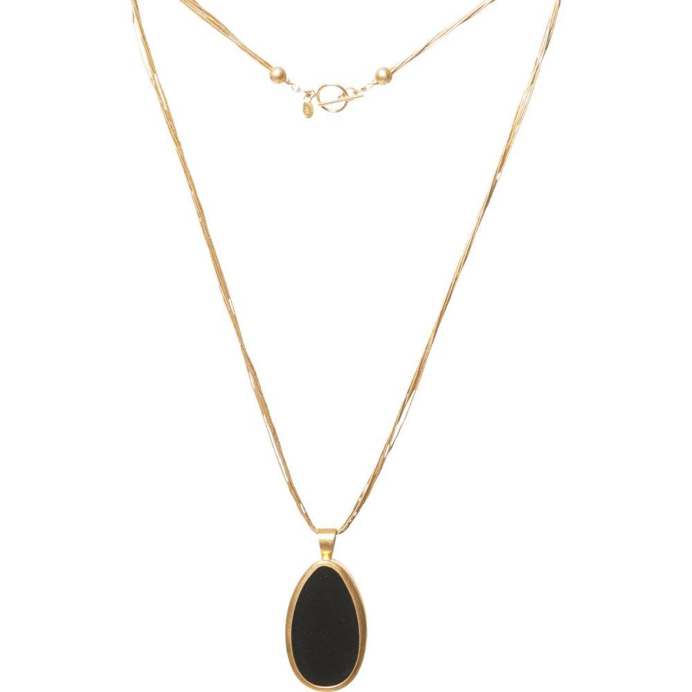 ペヨーテバード PEYOTE BIRD レディース ネックレス ジュエリー・アクセサリー【Brass Gold-Filled Black Onyx Necklace】Gold/Black/Onyx