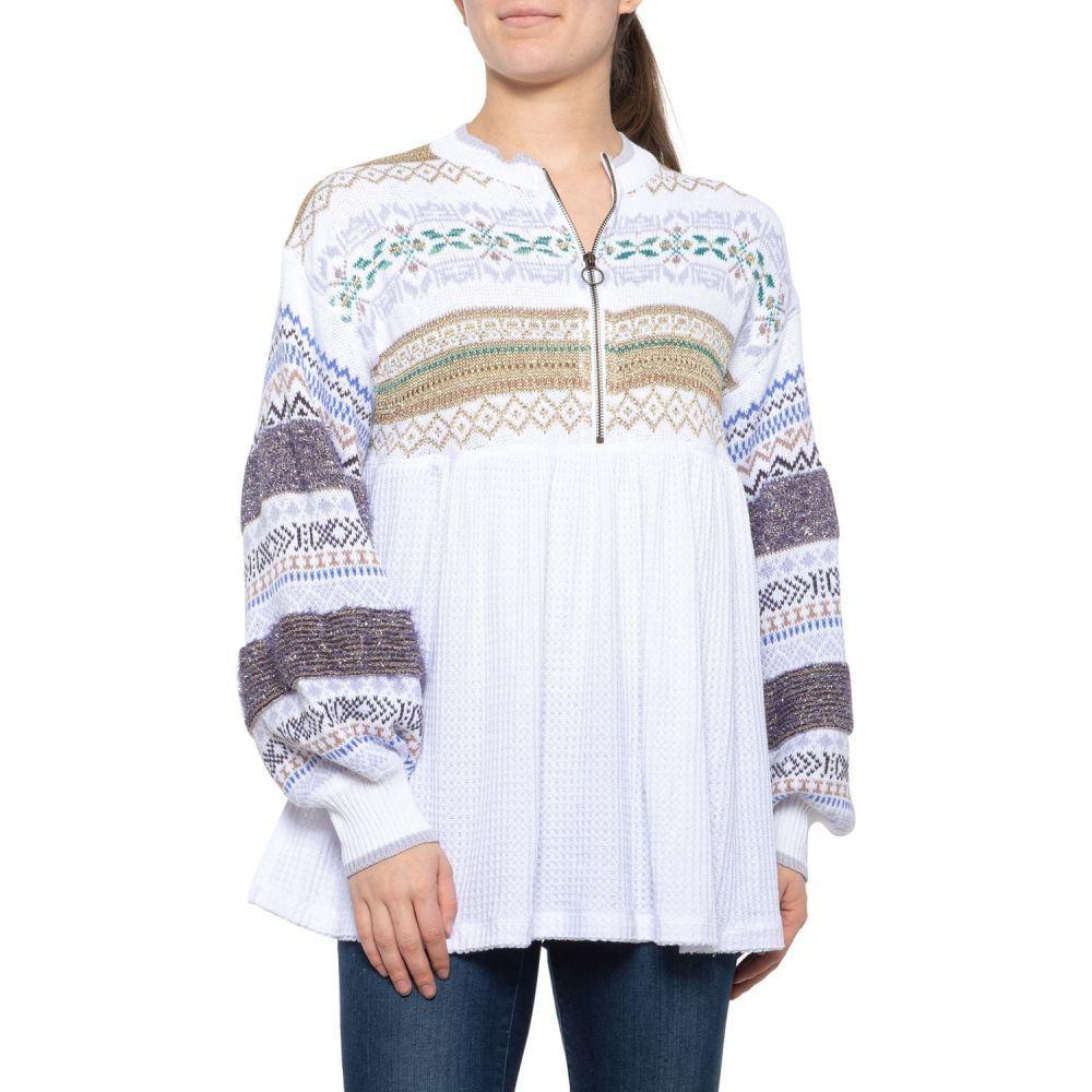 フリーピープル Free People レディース ニット・セーター トップス【White Cabin Fever Sweater】White