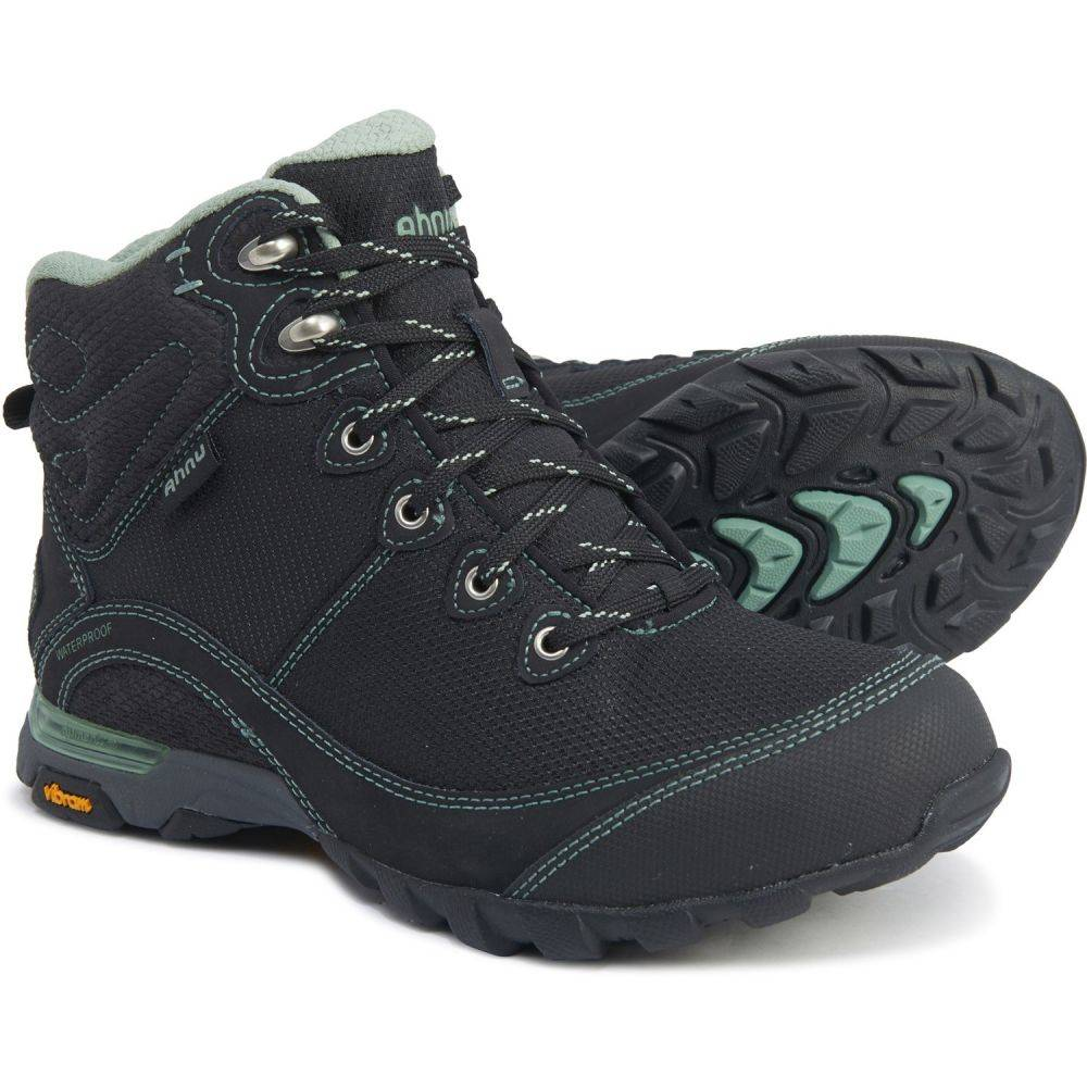 テバ AHNU BY TEVA レディース ハイキング・登山 シューズ・靴【Black-Green Bay Sugarpine II Ripstop Hiking Boots - Waterproof】Black/Green Bay