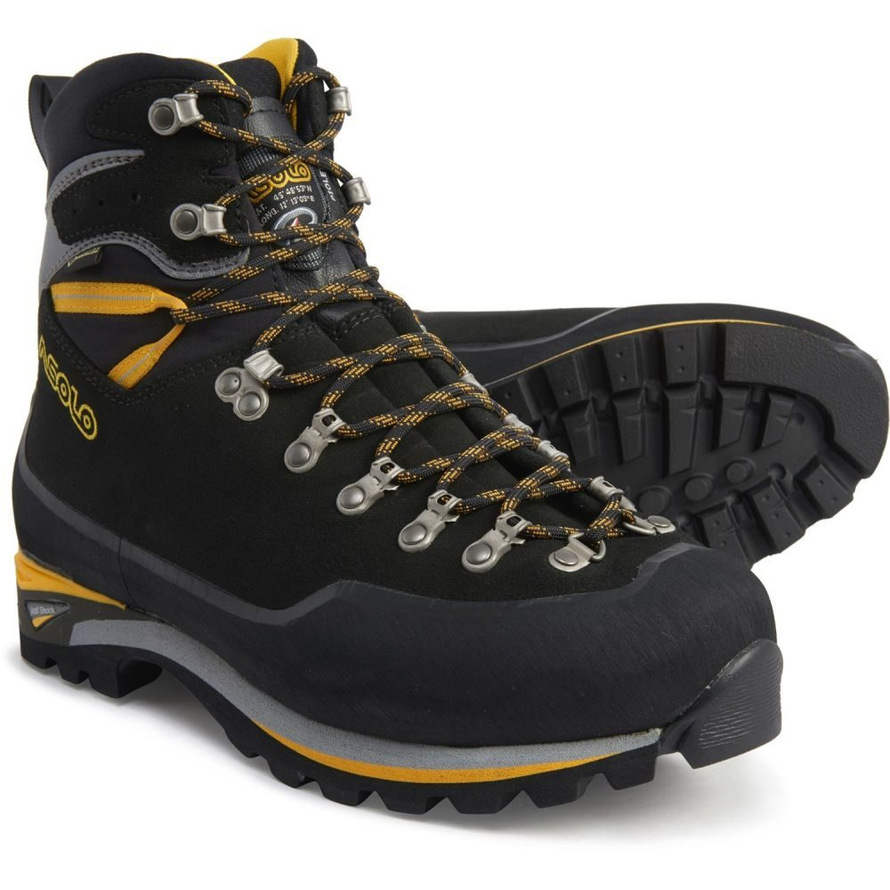 アゾロ Asolo メンズ ハイキング・登山 登山靴 シューズ・靴【Made in Europe Piolet GV Gore-Tex Mountaineering Boots - Waterproof】Black/Dark Silver