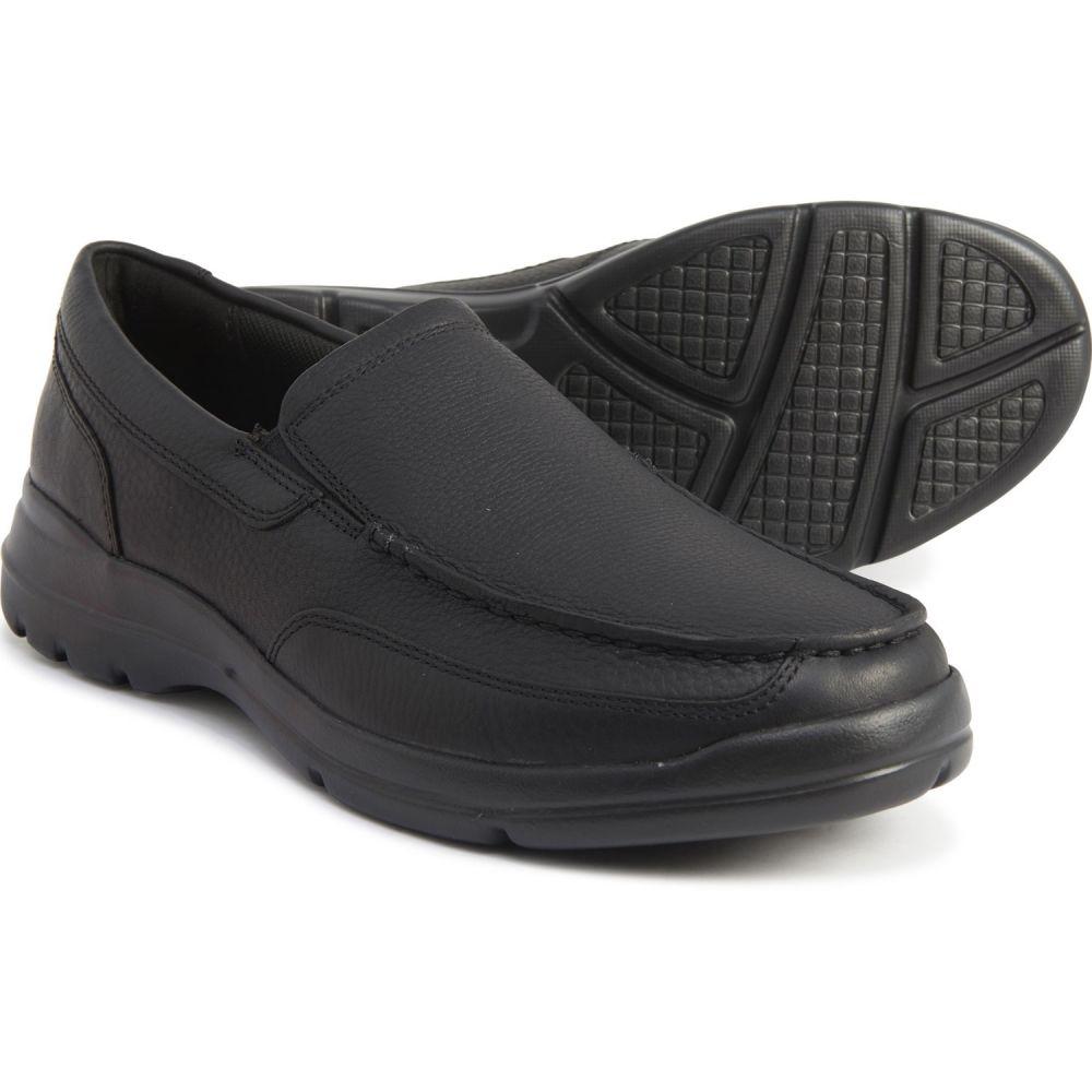 ロックポート Rockport メンズ スリッポン・フラット シューズ・靴【Black Junction Point Shoes - Leather, Slip-Ons】Black