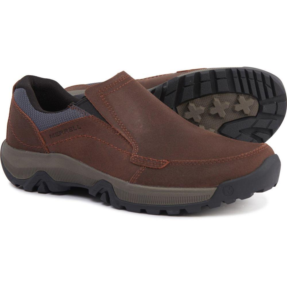 Shoes メンズ Anvik Slip-Ons】Merrell - スリッポン・フラット Merrell Oak メレル シューズ・靴【Oak Moc