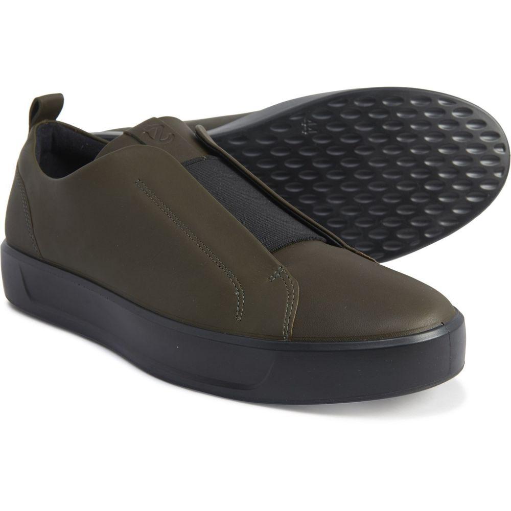 エコー ECCO メンズ スニーカー シューズ・靴【Made in Portugal Black Soft 8 Stretch Low Sneakers - Leather】Black