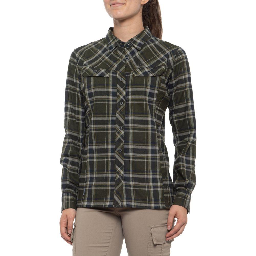 シムス Simms レディース トップス フランネルシャツ【PrimaLoft Blend Flannel Shirt - UPF 50+, Long Sleeve】Forest Plaid