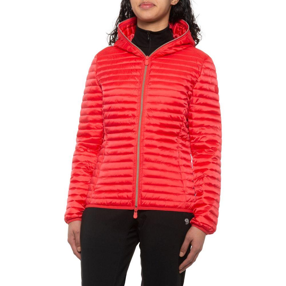 セイブ ザ ダック Save the Duck レディース ジャケット フード アウター【Hooded Lightweight Packable Short Jacket - Insulated】Hibiscus Red