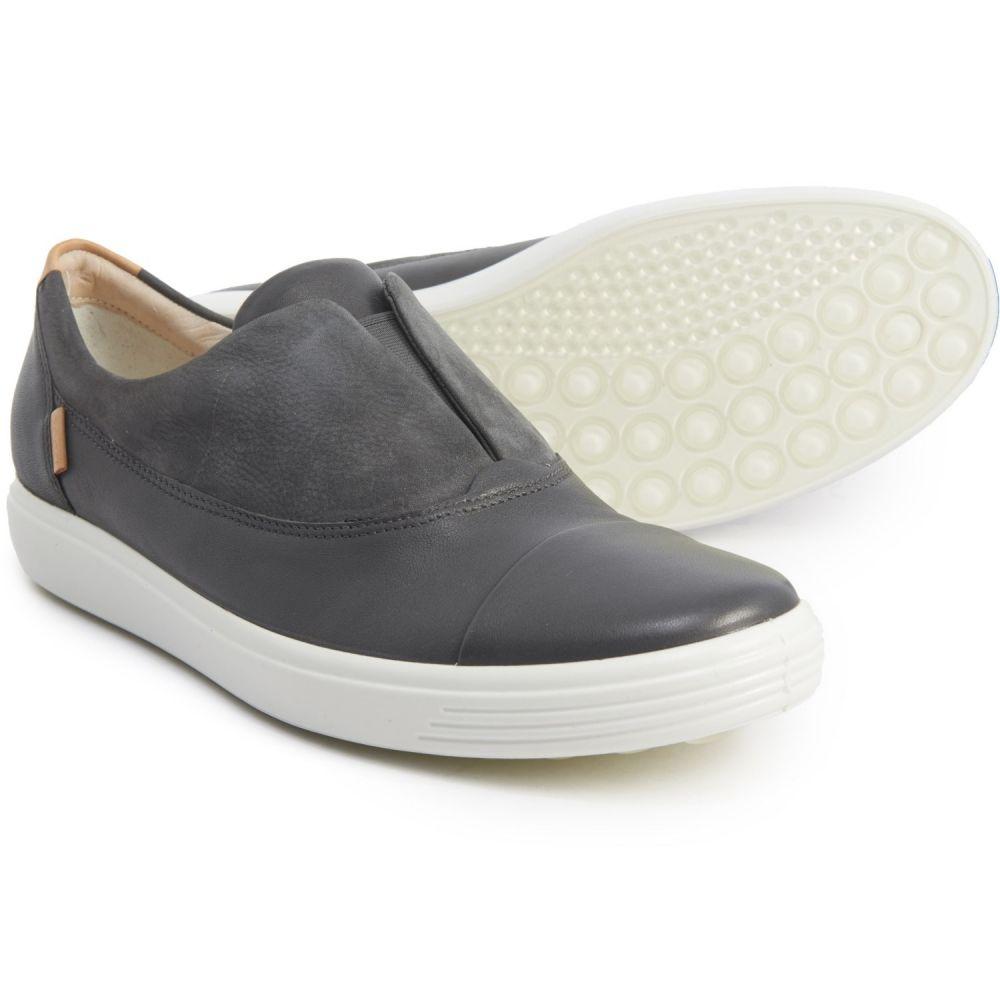 エコー ECCO レディース スリッポン・フラット シューズ・靴【Soft 7 Casual Sneakers - Leather, Slip-Ons】Dark Shadow