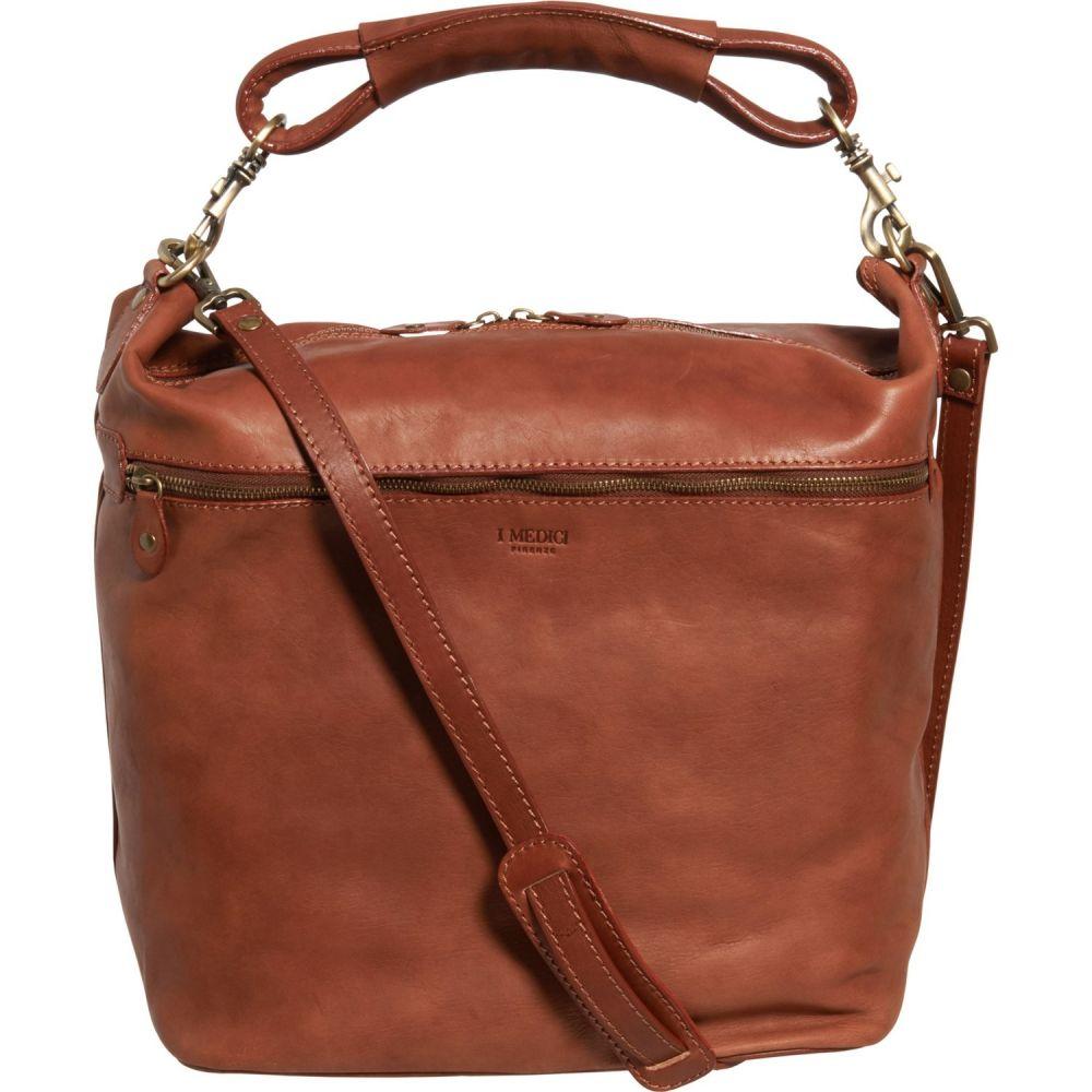 メディチ Medici レディース ハンドバッグ バッグ【Made in Italy Mogano Large Single Handle Hobo Bag - Leather】Mogano