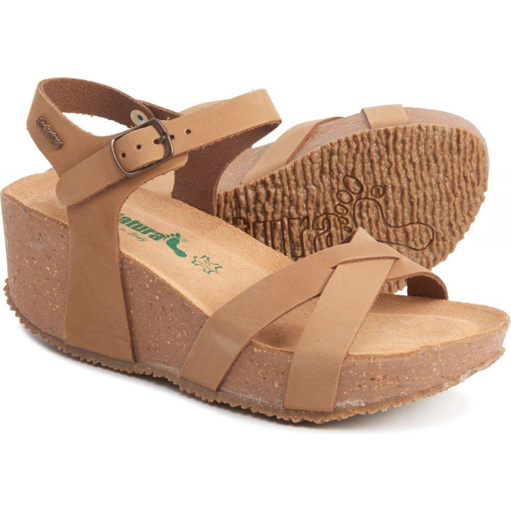 バイオナチュラル BioNatura レディース サンダル・ミュール ウェッジソール シューズ・靴【made in italy crossband wedge sandals - leather】Tan
