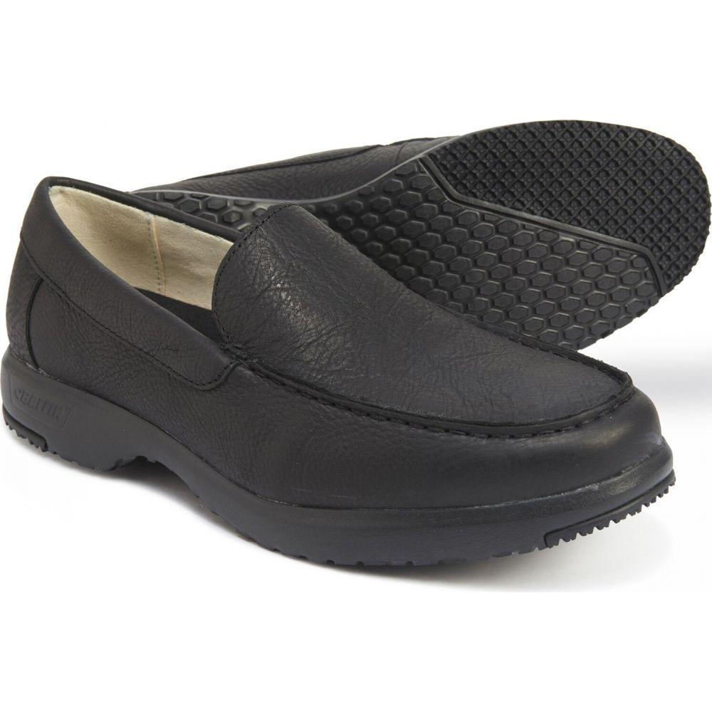バフィン Baffin メンズ スリッポン・フラット シューズ・靴【kauai slip-on loafers - leather】Black