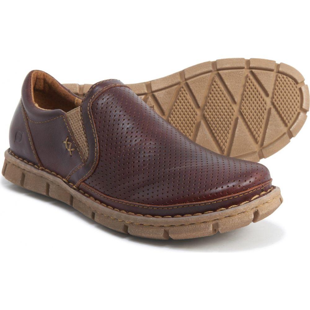 ボーン Born メンズ スリッポン・フラット シューズ・靴【sawyer shoes - leather, slip-ons】Brown