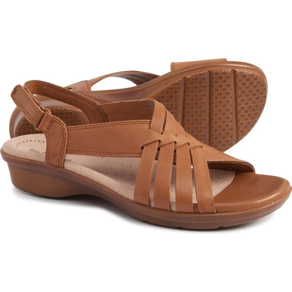 クラークス Clarks レディース サンダル・ミュール シューズ・靴【loomis cassey sandals - leather】Tan Leather
