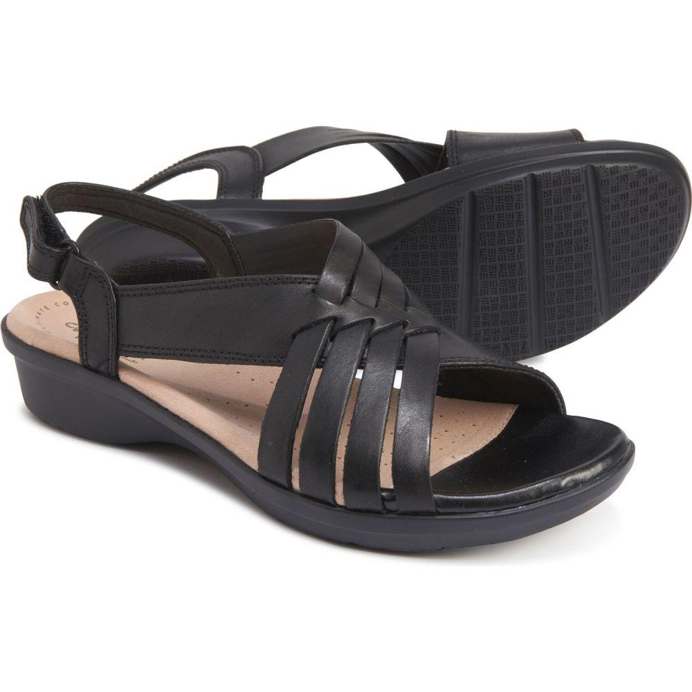 クラークス Clarks レディース サンダル・ミュール シューズ・靴【loomis cassey sandals - leather】Black Leather
