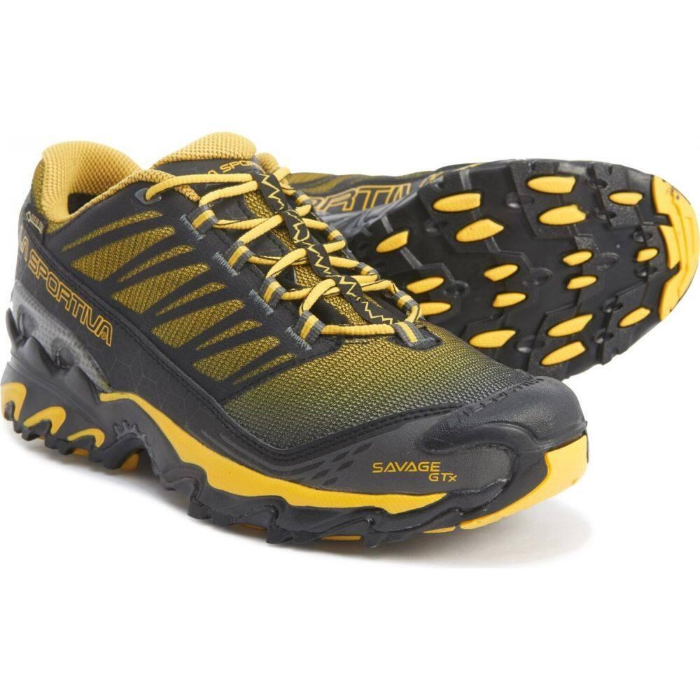 ラスポルティバ La Sportiva メンズ ランニング・ウォーキング シューズ・靴【savage gore-tex trail running shoes - waterproof】Black/Yellow