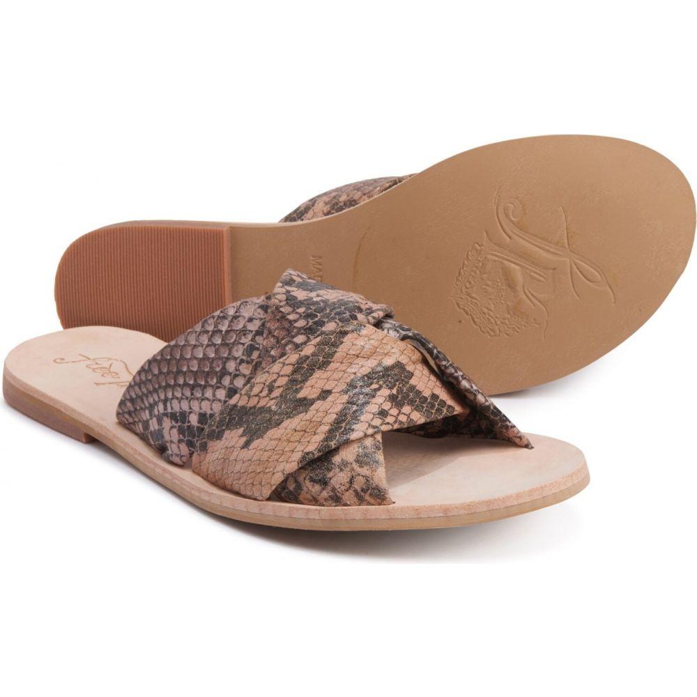フリーピープル Free People レディース サンダル・ミュール シューズ・靴【rio vista slide sandals - leather】Brown