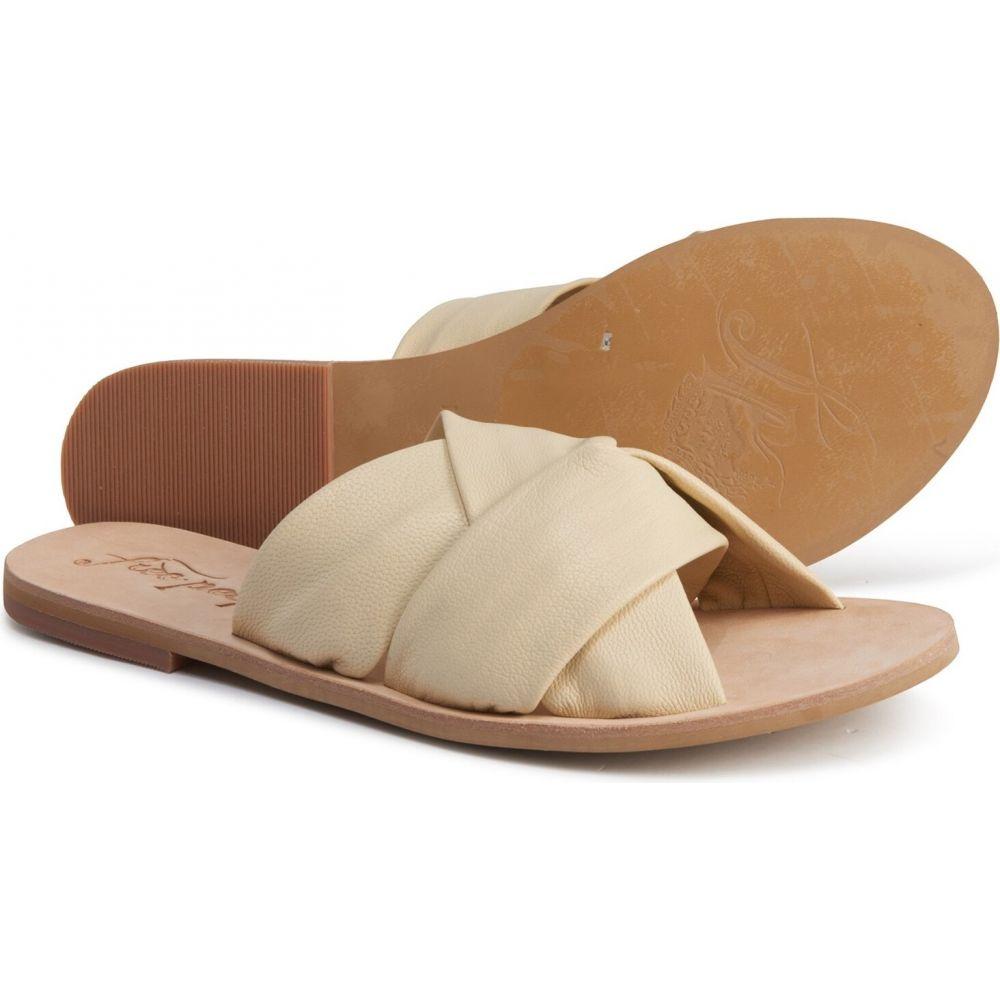 フリーピープル Free People レディース サンダル・ミュール シューズ・靴【rio vista slide sandals - leather】Cream