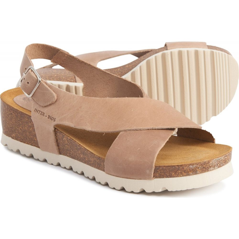 INTERBIOS レディース サンダル・ミュール ウェッジソール シューズ・靴【made in spain h-band wedge sandals - leather】Beige