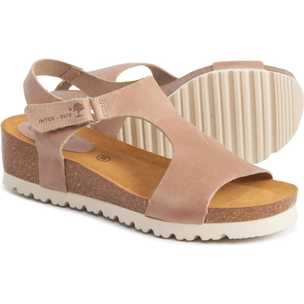 INTERBIOS レディース サンダル・ミュール シューズ・靴【made in spain footbed sandals】Beige
