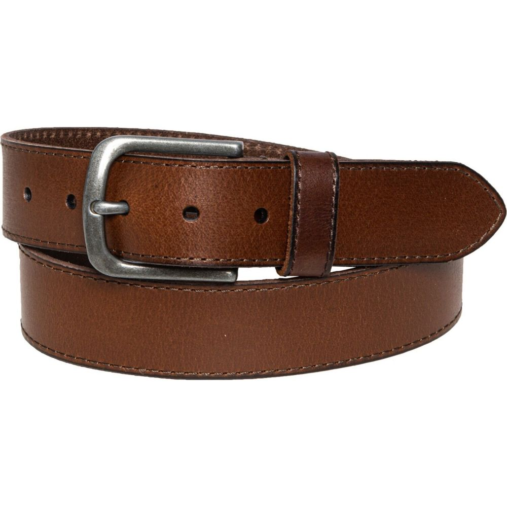 フライ Frye メンズ ベルト 【edge-stitched panel belt - 38mm, leather】Brown/Nickel