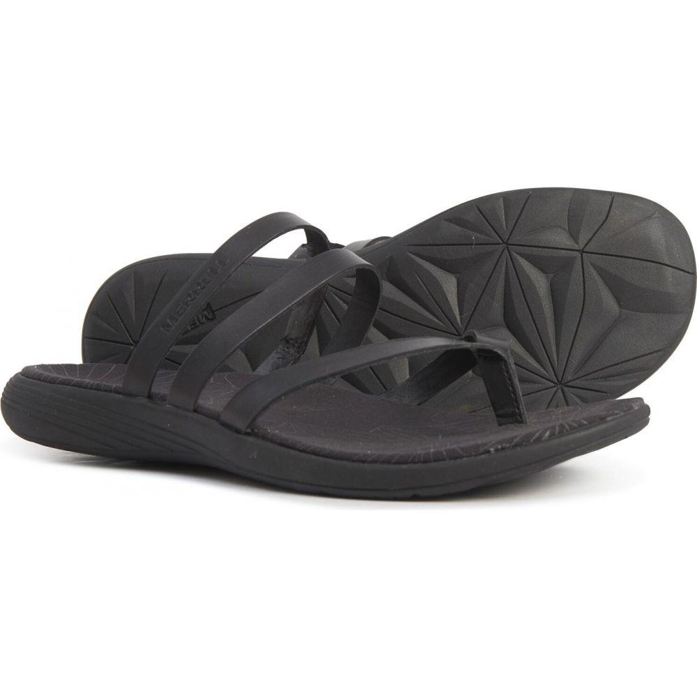 メレル Merrell レディース サンダル・ミュール シューズ・靴【duskair seaway post sandals - leather】Black