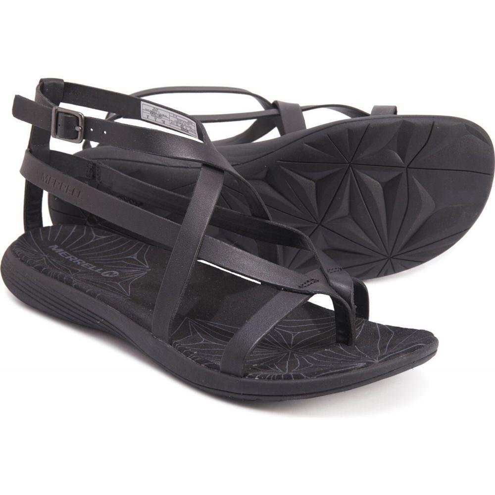 メレル Merrell レディース サンダル・ミュール シューズ・靴【duskair seaway slide sandals - leather】Black