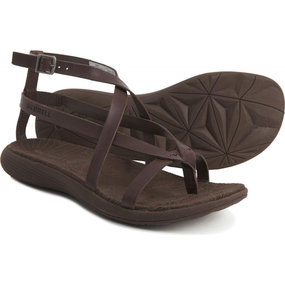 メレル Merrell レディース サンダル・ミュール シューズ・靴【duskair seaway slide sandals - leather】Bracken