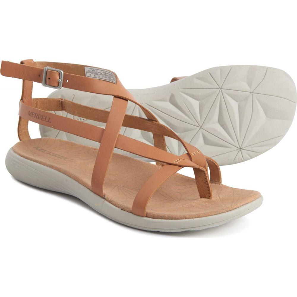 メレル Merrell レディース サンダル・ミュール シューズ・靴【duskair seaway slide sandals - leather】Natural Tan