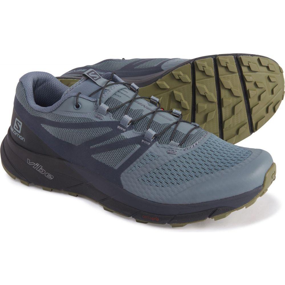 サロモン Salomon メンズ ランニング・ウォーキング シューズ・靴【sense ride 2 trail running shoes】Stormy Weather/Ebony/Black