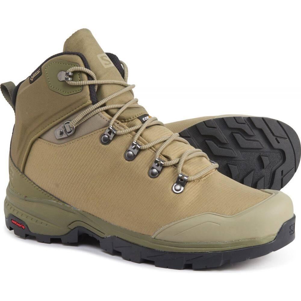 サロモン Salomon メンズ ハイキング・登山 ブーツ シューズ・靴【outback 500 gore-tex hiking boots - waterproof】Burnt Olive/Mermaid/Black