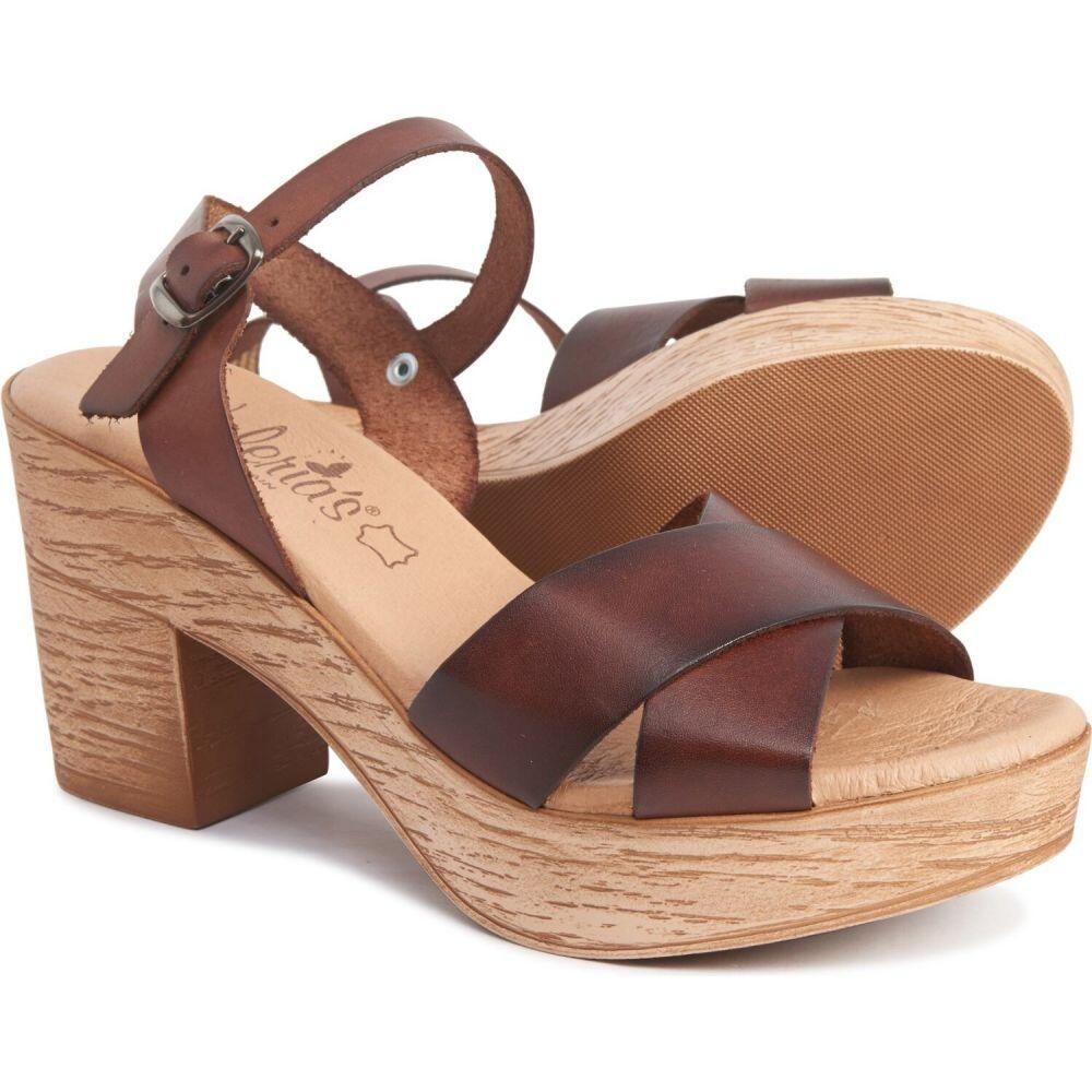 バレリア VALERIAS レディース サンダル・ミュール シューズ・靴【made in spain cross-band sandals - leather】Nuez