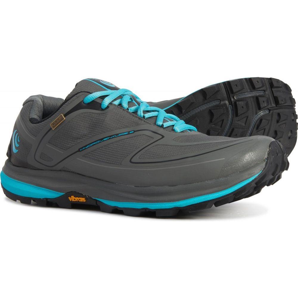 トポ アスレチック Topo Athletic レディース ランニング・ウォーキング シューズ・靴【hydroventure 2 trail running shoes - waterproof】Charcoal/Sky