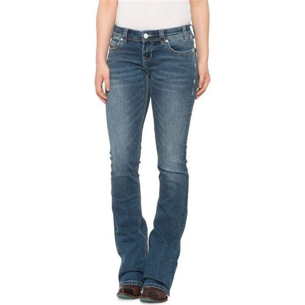 ロックアンドロールカウガール Rock & Roll Cowgirl レディース ジーンズ・デニム ブーツカット ボトムス・パンツ【rival jeans - low rise, bootcut】Med Wash
