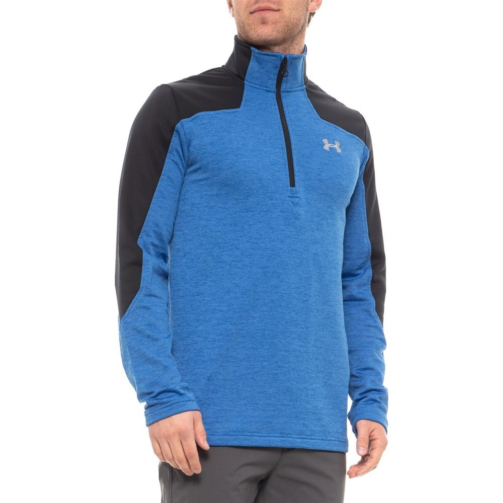 アンダーアーマー Under Armour メンズ フリース トップス【Expanse Fleece Jacket - Zip Neck】Blue/Black
