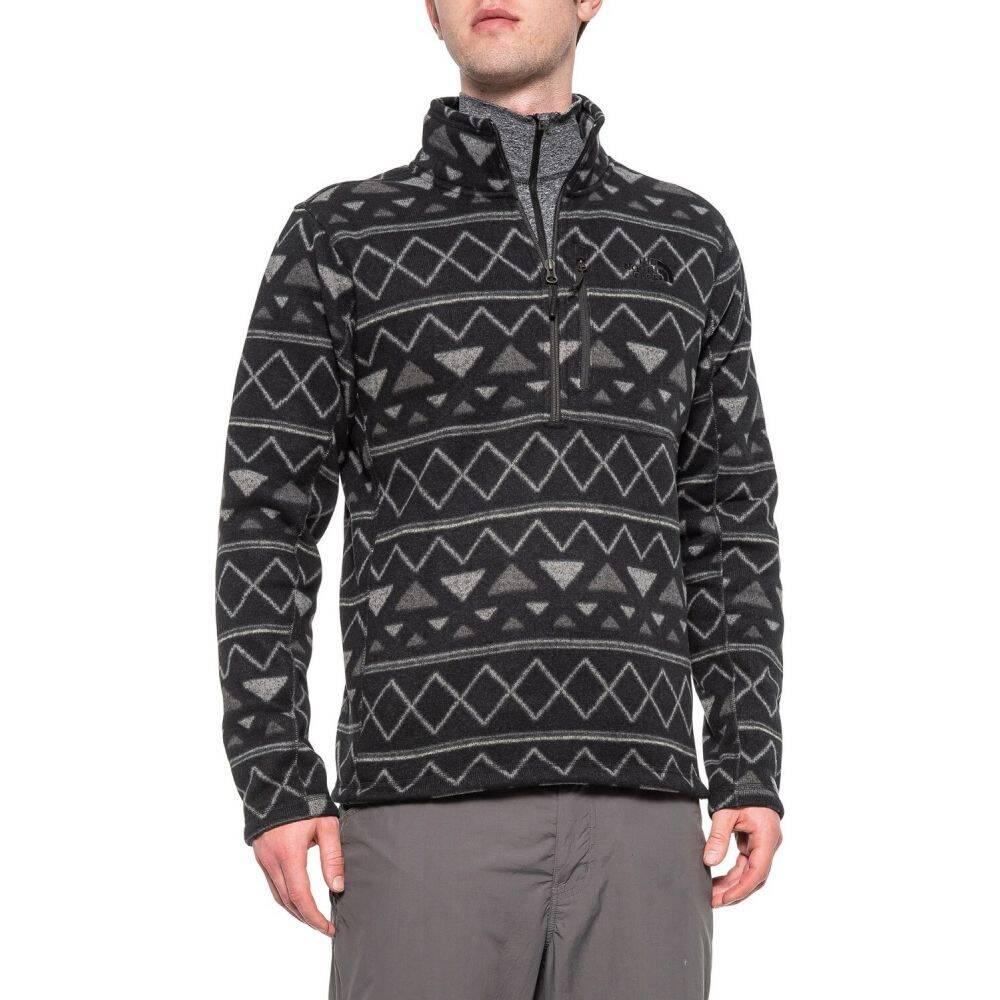 ザ ノースフェイス The North Face メンズ フリース トップス【Novelty Gordon Lyons Fleece Jacket - Zip Neck】Tnf Black Triangle Stripe