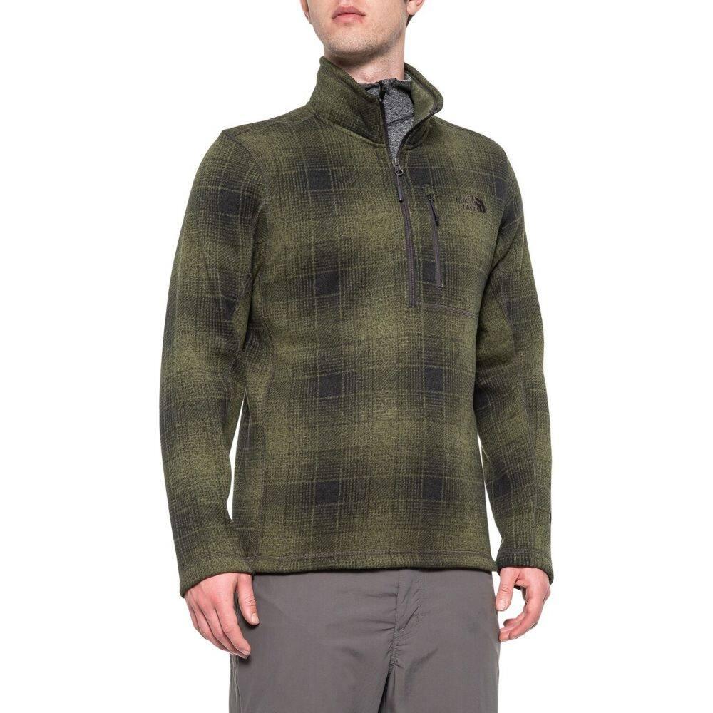 ザ ノースフェイス The North Face メンズ フリース トップス【Novelty Gordon Lyons Fleece Jacket - Zip Neck】Four Leaf Clover Ombre Plaid
