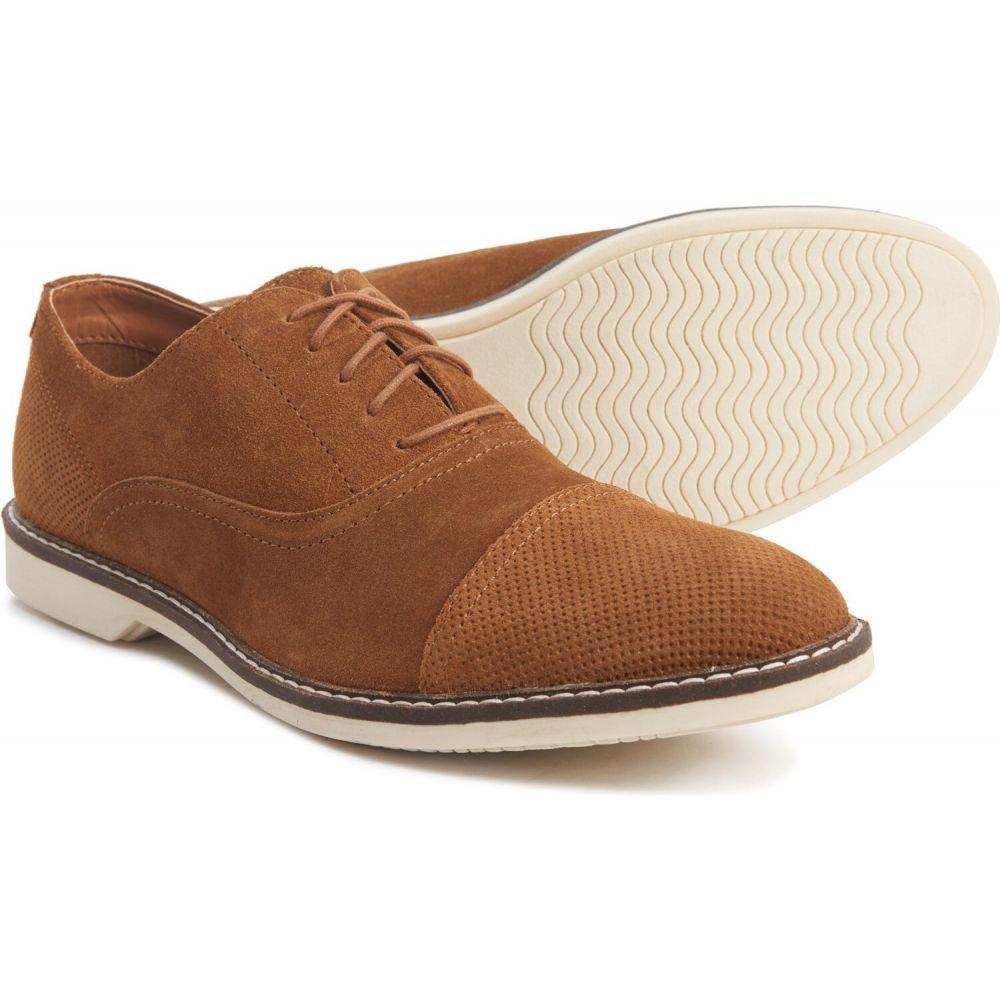 クレボ Crevo メンズ 革靴・ビジネスシューズ シューズ・靴【Caspian Cap-Toe Oxford Shoes - Suede】Tan