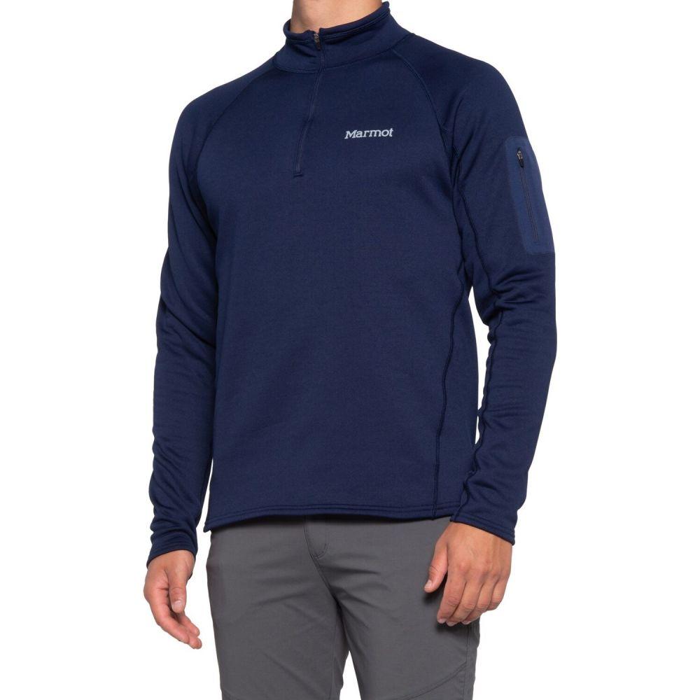 マーモット Marmot メンズ フリース トップス【Stretch Fleece Shirt - Zip Neck, Long Sleeve】Arctic Navy