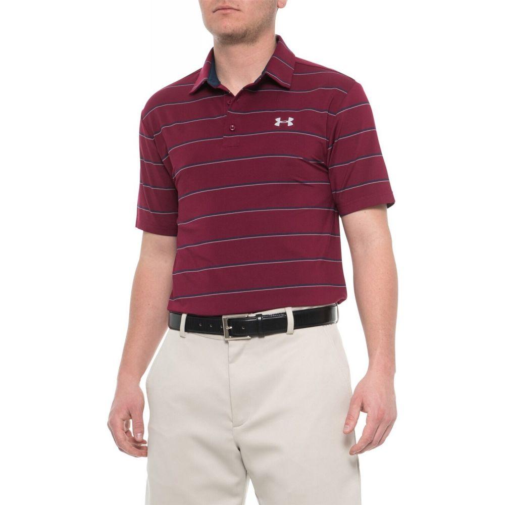 アンダーアーマー Under Armour メンズ ポロシャツ 半袖 トップス【Playoff Polo Shirt - Short Sleeve】Black Currant