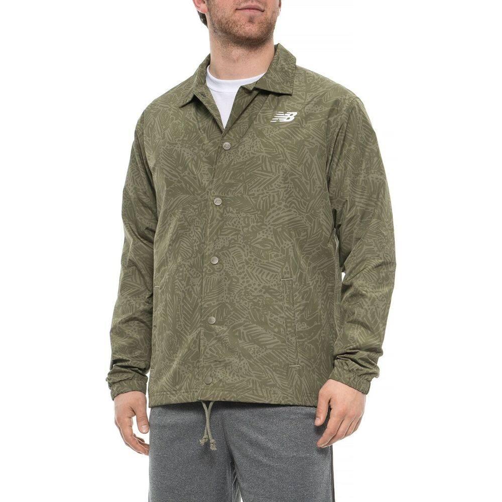 ニューバランス New Balance メンズ ジャケット コーチジャケット アウター【Classic Printed Coaches Jacket】Green