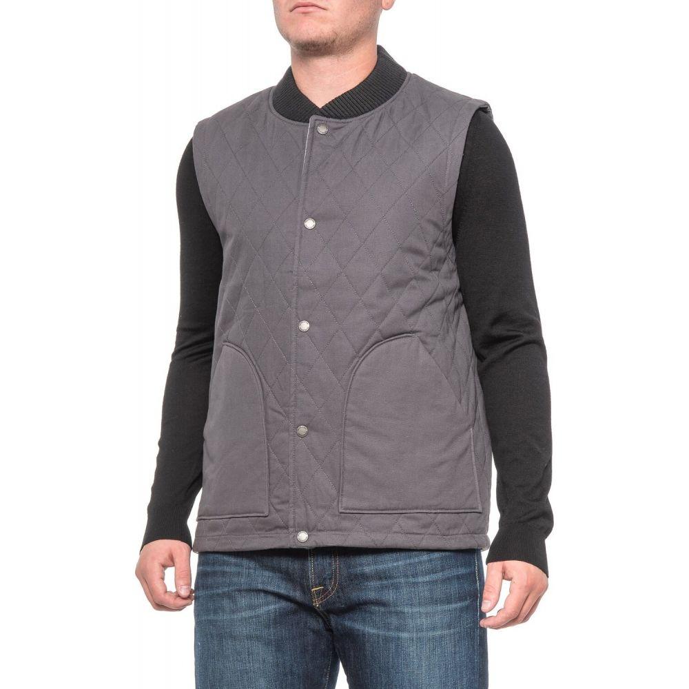 ペンドルトン Pendleton メンズ ベスト・ジレ トップス【Canvas Reversible Vest - Merino Wool, Insulated】Charcoal Grey/Black Grey Mix