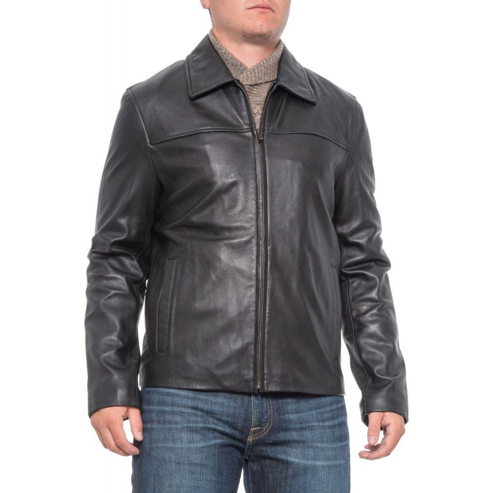 コールハーン Cole Haan メンズ レザージャケット ラム革 アウター【Lambskin Leather Jacket - Full Zip】Black