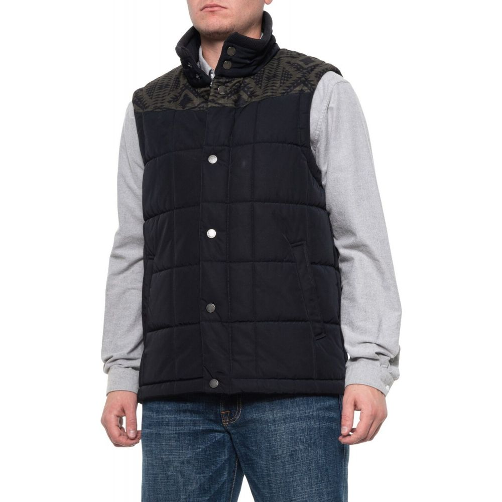 ペンドルトン Pendleton メンズ ベスト・ジレ トップス【Navy-Olive Sequoia Vest - Insulated】Navy/Olive