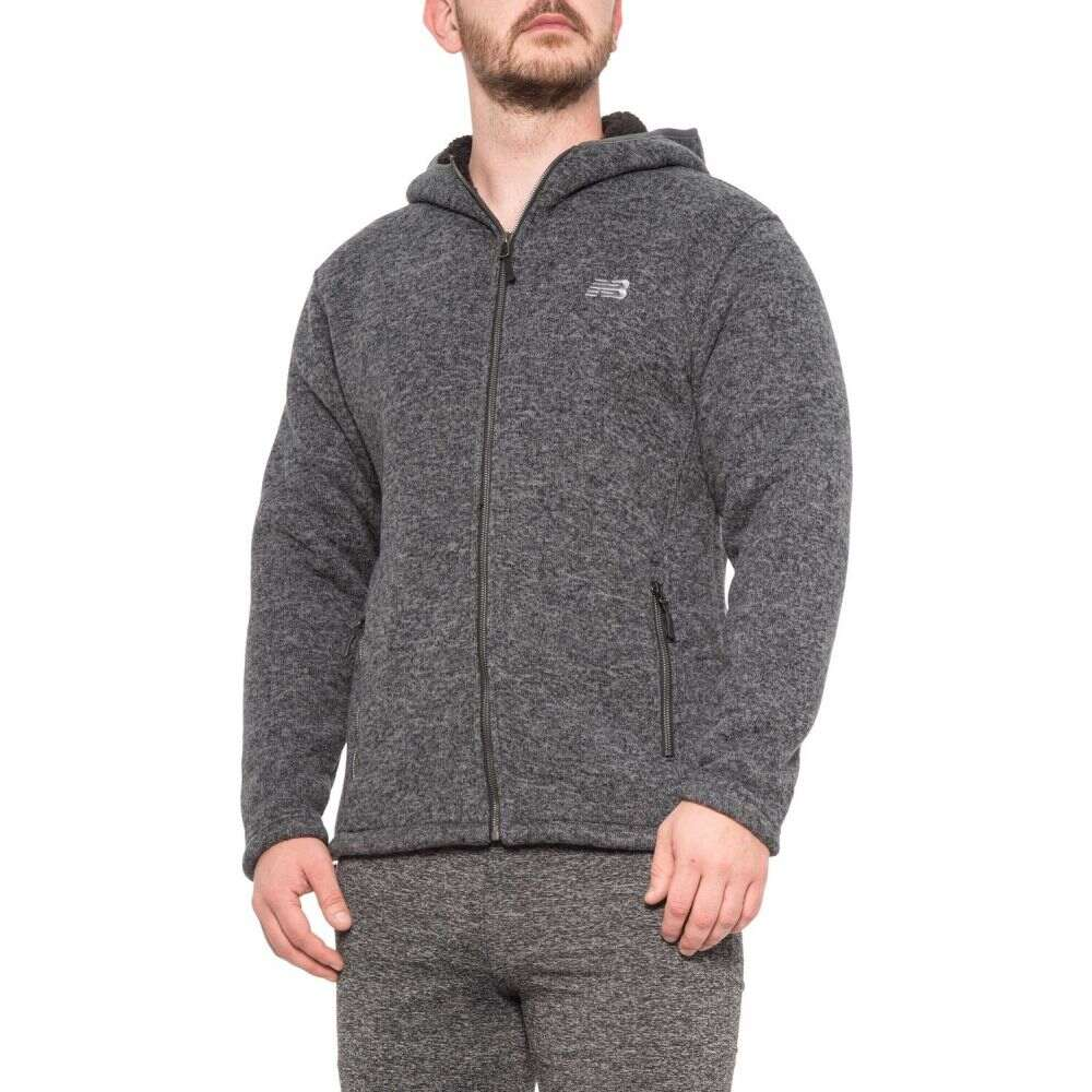 ニューバランス New Balance メンズ フリース トップス【Hooded Fleece Sweater】Charcoal Heather