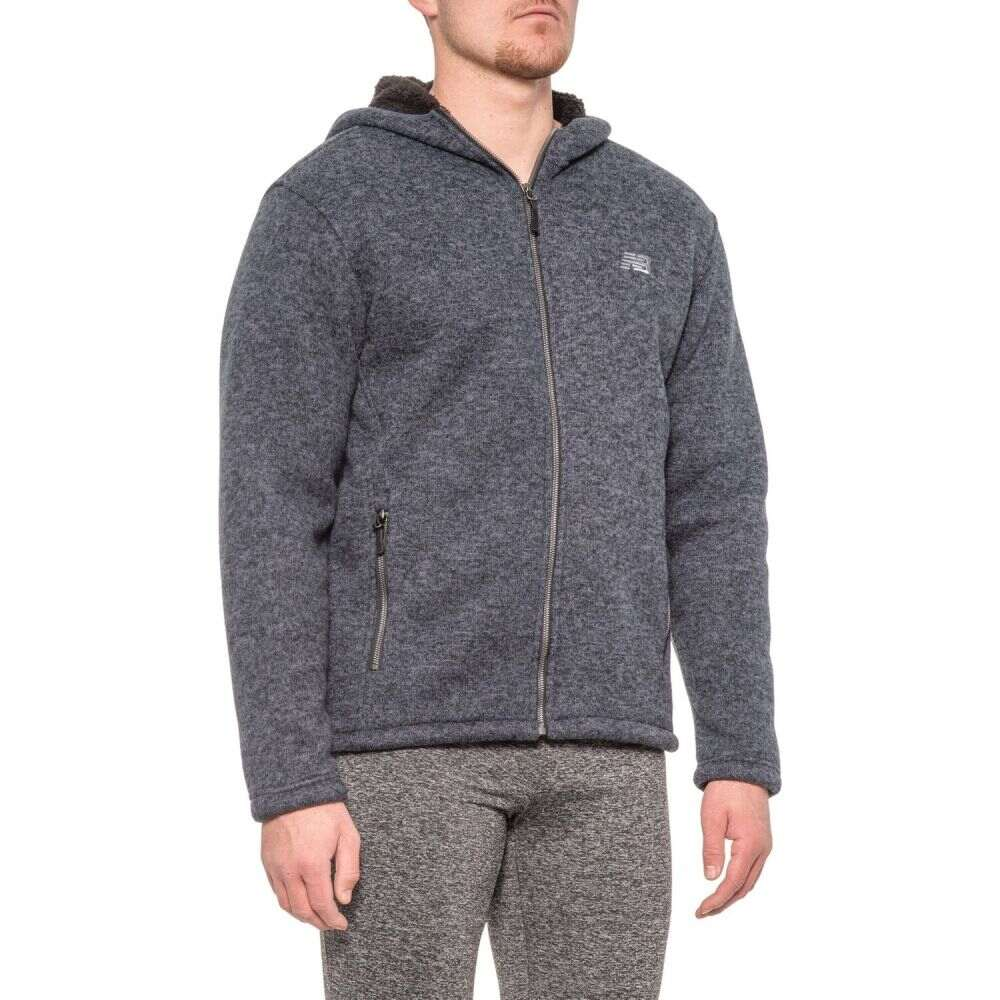 ニューバランス New Balance メンズ フリース トップス【Hooded Fleece Sweater】Dark Navy Heather
