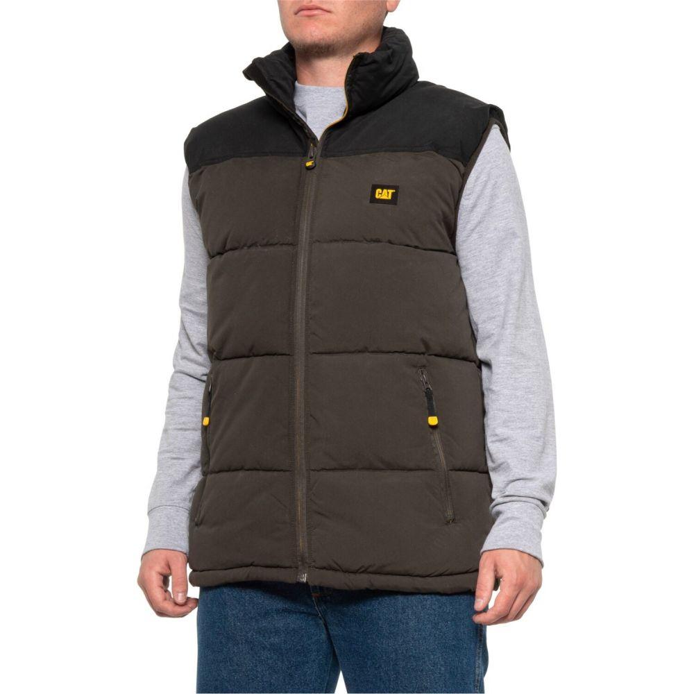 キャピタラー カジュアル Caterpillar メンズ ベスト・ジレ 大きいサイズ トップス【Arctic Zone Vest - Insulated Big and Tall】Graphite/Black