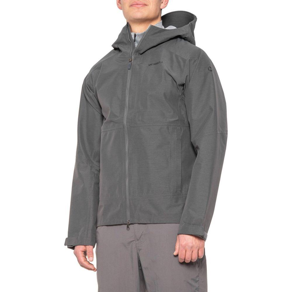 メレル Merrell メンズ ジャケット シェルジャケット アウター【Voyager Hard Shell Jacket - Waterproof】Black/Navy/Bering Sea/Aquifier Plaid