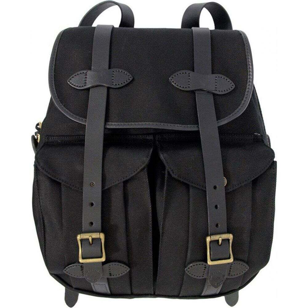 フィルソン Filson レディース バックパック・リュック バッグ【21L Rugged Twill Rucksack Backpack】Black